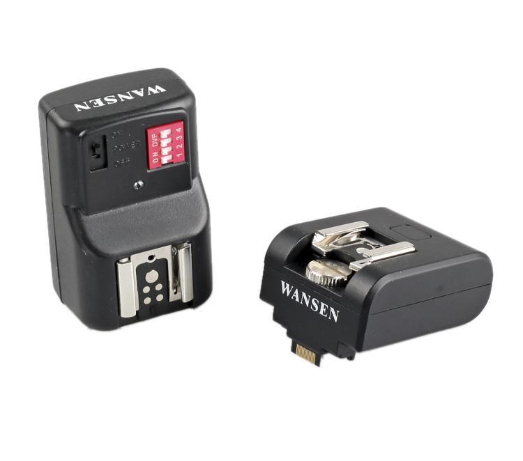 16 Channels Wireless Flash Trigger Hot Shoe Adapter w/ Receiver for Sony NEX3 NEX5N