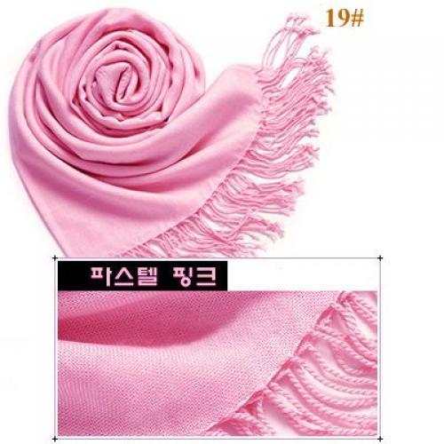 Elegant Soft Wool Scarf Shawl Wrap #19 - Pink