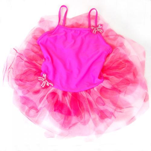 Pink Girls Fairy Ballet Tutu Dress Size 5T 6T