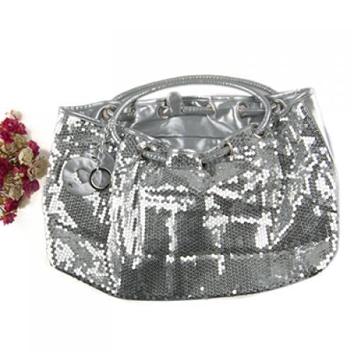 Artificial Leather Shoulder Bag Handbag Purse Sliver 696#