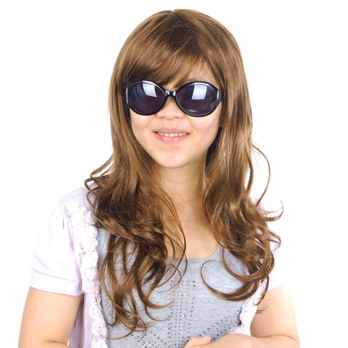 Long Curly Elegant Synthetic Fiber Hair Wig - Flaxen