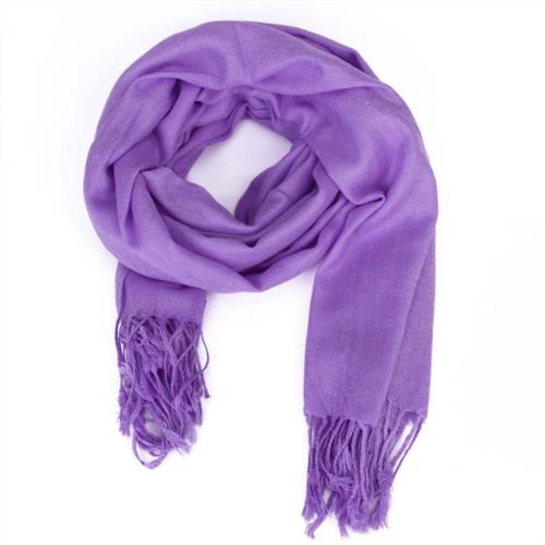 Elegant Soft Wool Scarf Shawl Wrap #10 - Lilac