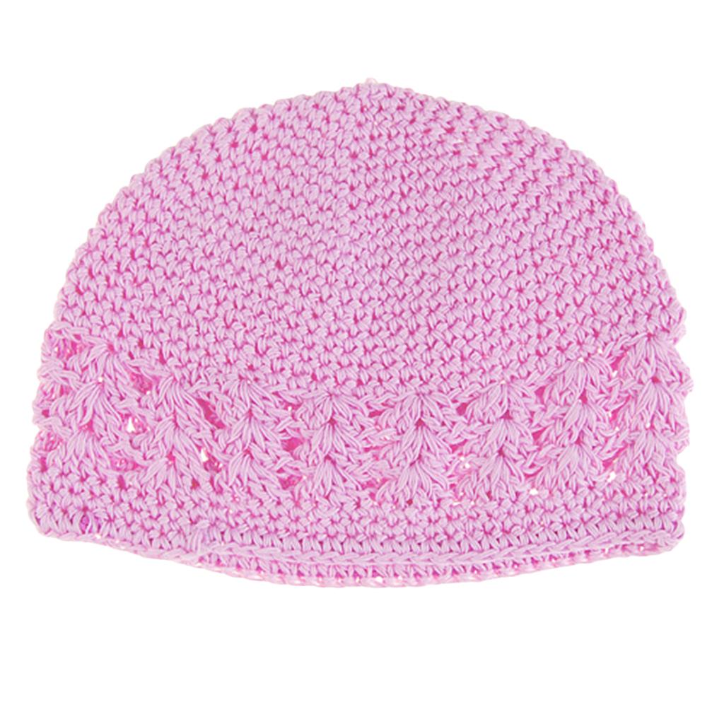 Crochet Handmade Beanie Cap Hat Baby Toddler Kids - Pink