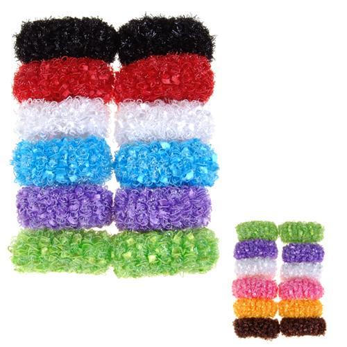 12pcs Hair Elastic Ties Ponytail Holders - Assorted Colors