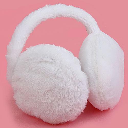 Fluffy Furry Behind The Head Earmuff Ear Muff Ear Warmer - White