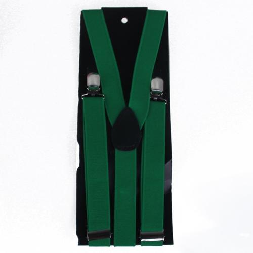 Clip-on Braces Elastic Y-back Suspender 37x1 inch - Green
