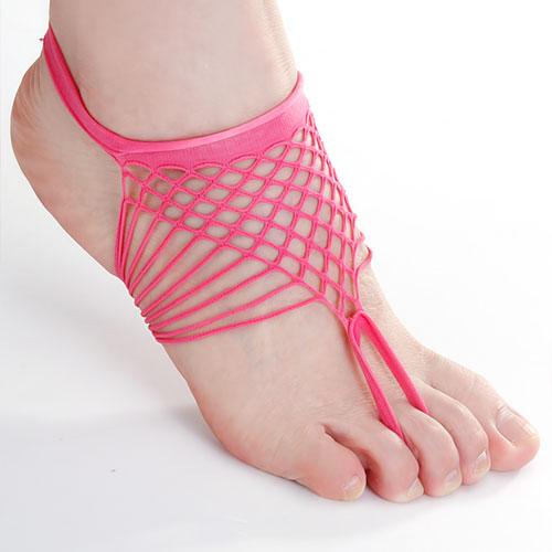 1 Pair Shocking Pink Ladies Fishnet Socks Ankle Socks