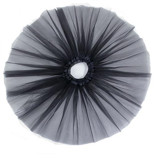 Fairy 3 Layers Princess Ballet Tutu Dress Dance Skirt 5-6 T - Black