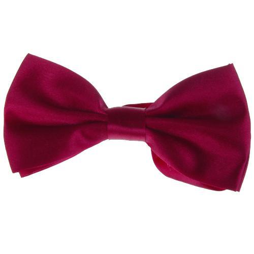 Tuxedo Bow Tie Bowtie Necktie for Men - Wine Red
