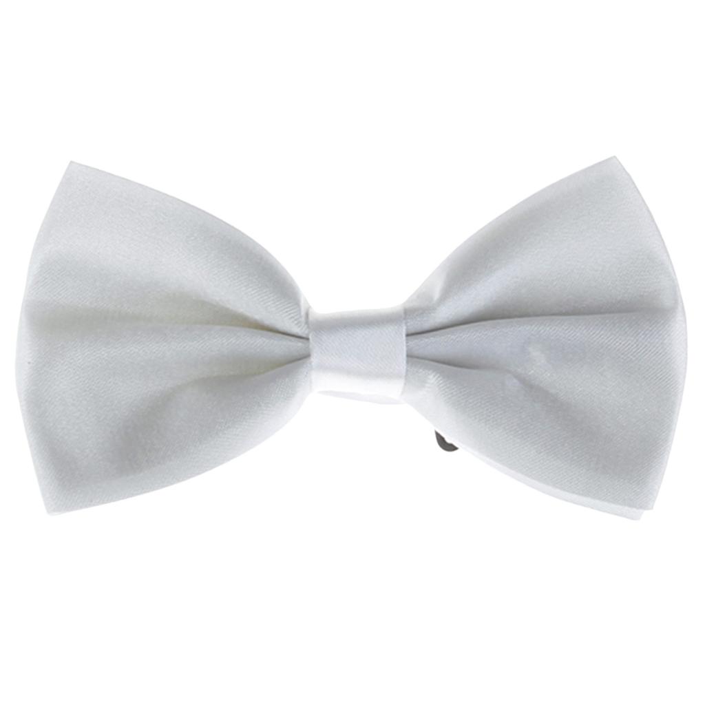 Tuxedo Bow Tie Bowtie Necktie for Men - White