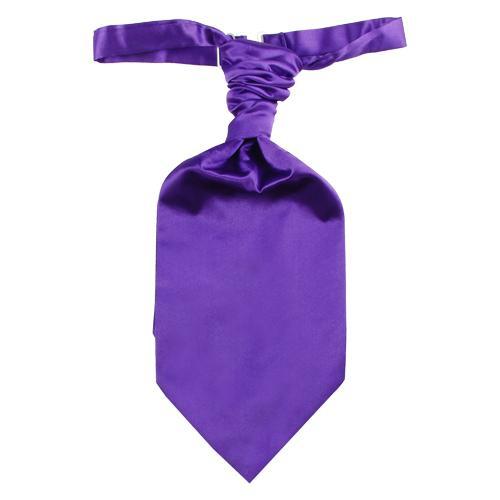 Men Wedding Ruche Cravat Neck Tie Necktie Purple