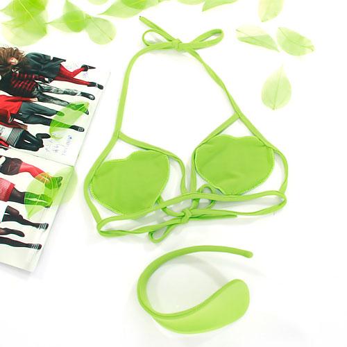 Women Sexy C-string Bra Set Lingerie Underwear - Lime