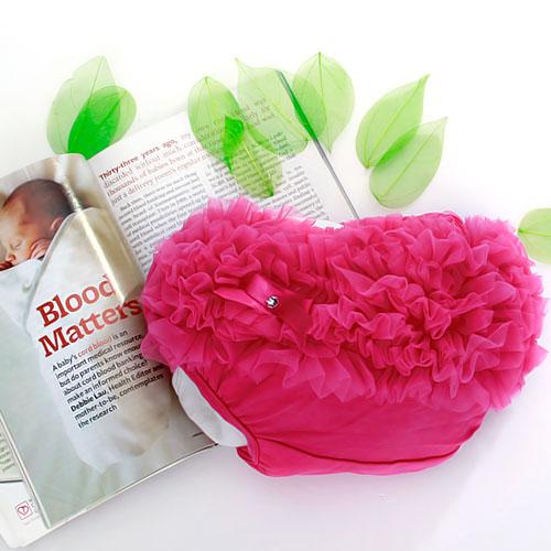 Hot Pink Baby Girl Ruffle Panties Bloomers Diaper Cover S