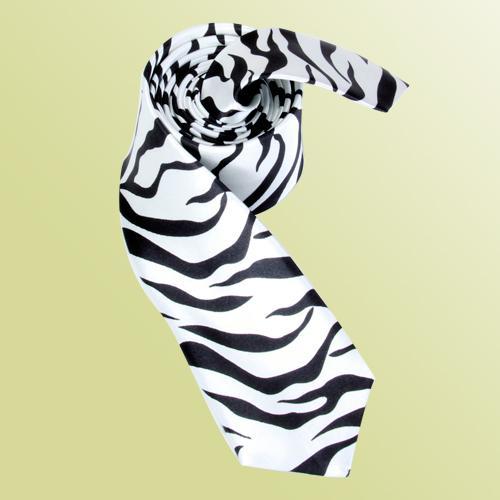 Unisex Casual Necktie Skinny Slim Narrow Neck Tie - Zebra