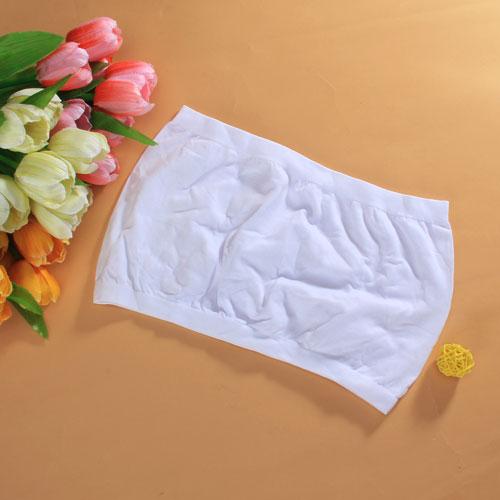 Seamless Strapless Bra Tube Top Without Padding - White