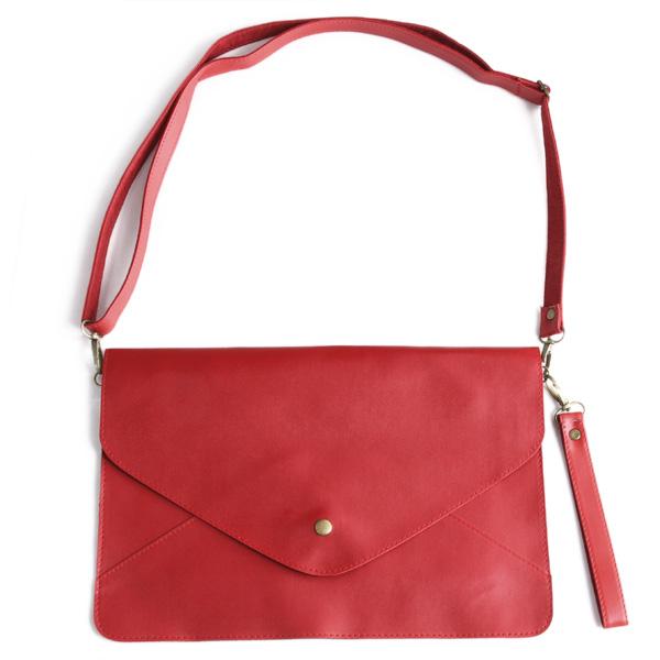 Envelope Messenger Shoulder Bag Handbag-Red