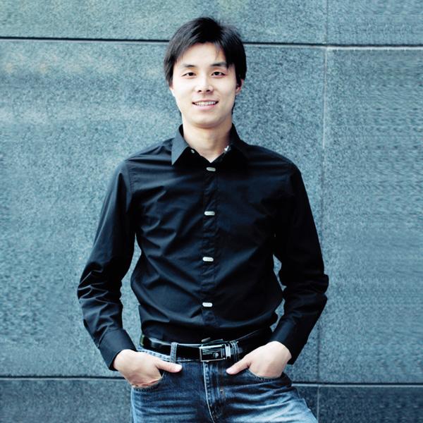 Mens Metal Button Long Sleeve Shirt L Black