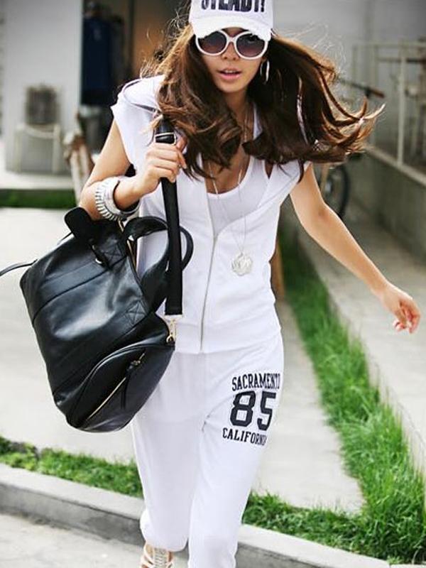 Fashion Women PU Leather Casual Handbag Shoulder Bag Black