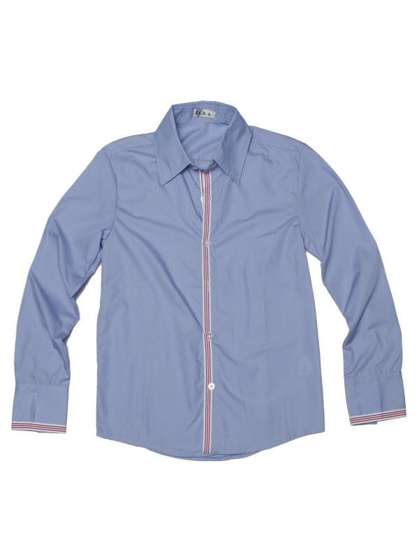 Mens Casual Slim Fit Stylish Dress Shirt Blue XL