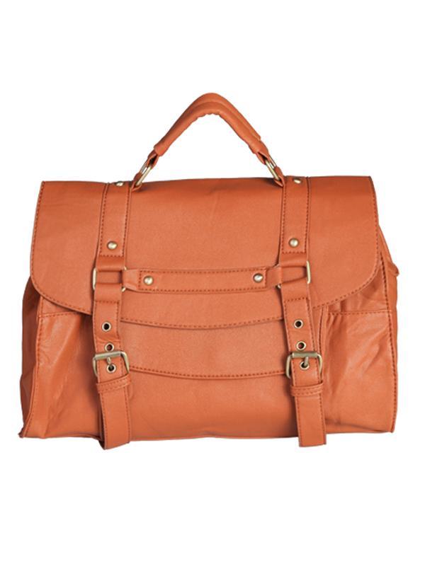 Brown Ladies Womens PU Leather Shoulder Messenger Handbag