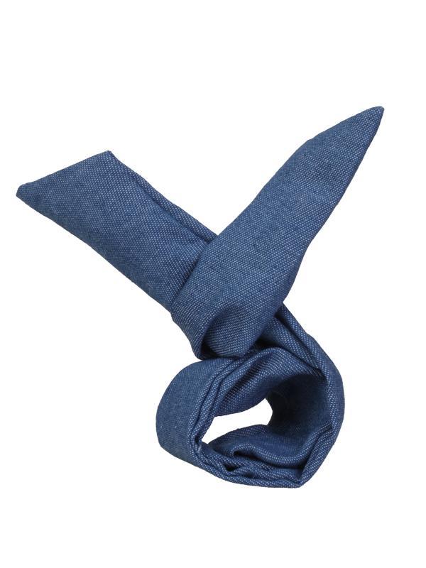 Japan Korea Style Rabbit Ear Denim Headband Wire Hair Band - Solid Jean Blue