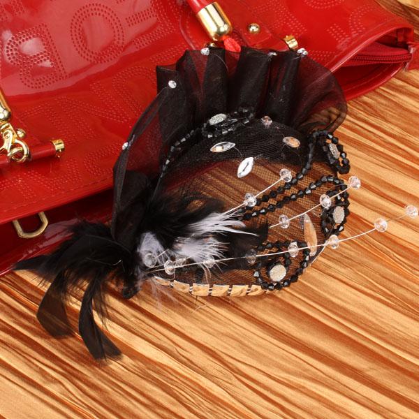 Tulle Feather Bridal Headdress Fascinator Headdress Flower