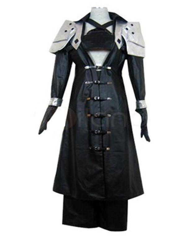 Hot Sale Men's Sephiroth Cosplay Costume Final Fantasy 7 M Black