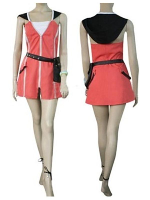 Women's Kingdom Hearts Kairi Cosplay Costume Tailored S Red
