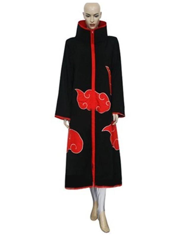 Naruto Anime Cartoon Cosplay Men's Costume Tailored S Black