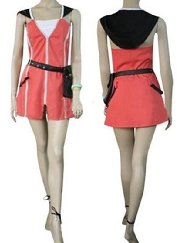 Women's Kingdom Hearts Kairi Cosplay Costume Tailored XXL Red