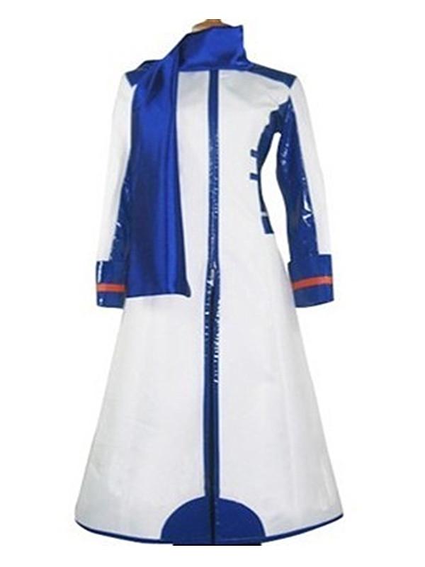 Vocaloid Kaito Cosplay Men's Costume Tailored XXL White Blue