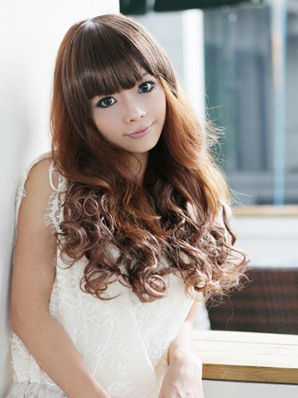 SILVI Women's One Piece Clip-on Hair Extension Curly Wavy Wig - Dark Maroon 2/33#