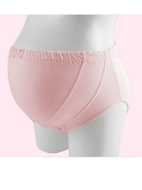 Comfortable Cotton Maternity Underwear Briefs - Pink XXL