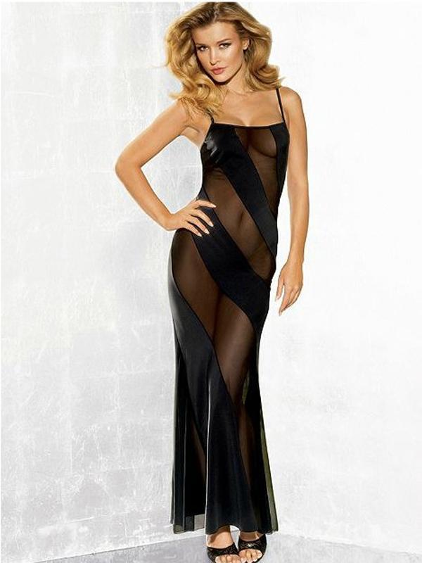 Tantalising Dress Hot Long Tempting Uniform 9058 Black