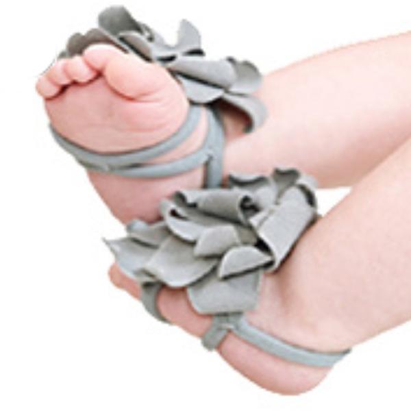 Lovely Baby Belt Shoe Unisex Foot Flower Shoe 3# Grey