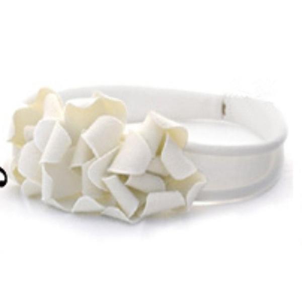 Lovely Infant Headband Flower Newborn Baby Headband 2# White