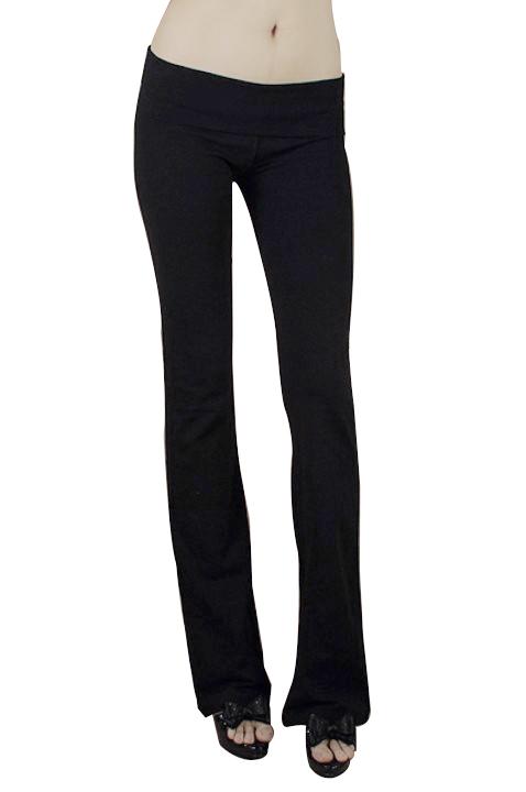 Women Causual Household Pants Elastic Fitness Yoga Pants Black M