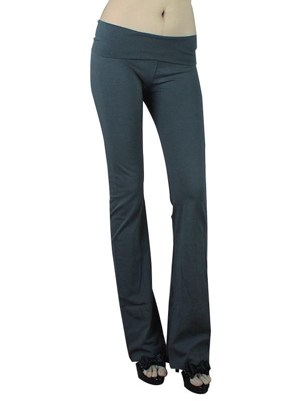 Women Causual Household Pants Elastic Fitness Yoga Pants Dark Grey M