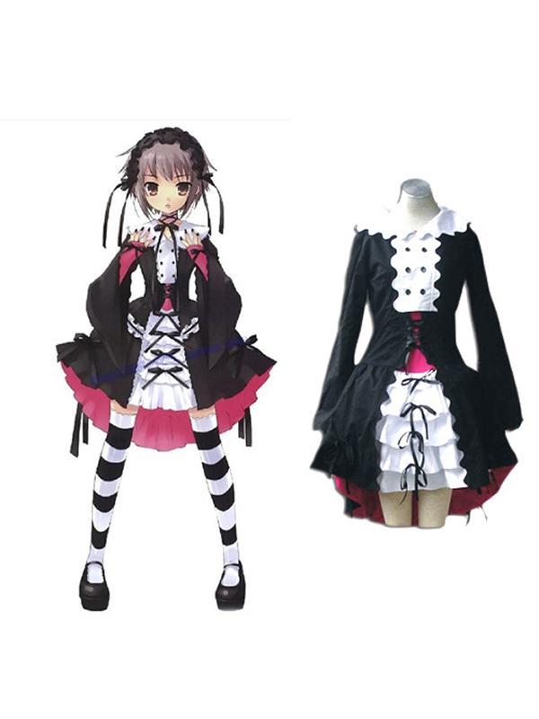 Haruhi Suzumiya Series Yuki Nagato Lolita Fashion Cosplay Costume XL