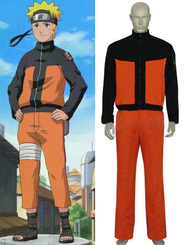 Naruto Uzumaki Cosplay Costume L