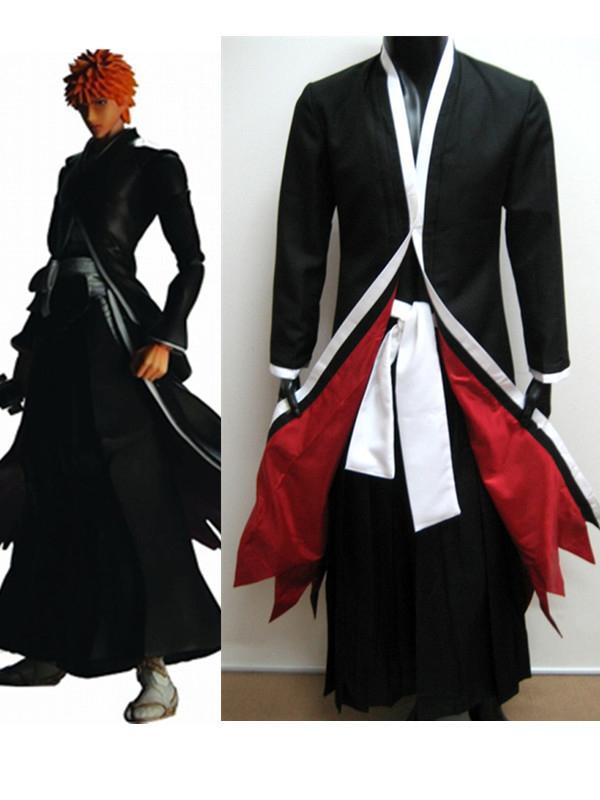 Bleach Ichigo Kurosaki Bankai Form Cosplay Costume XXL