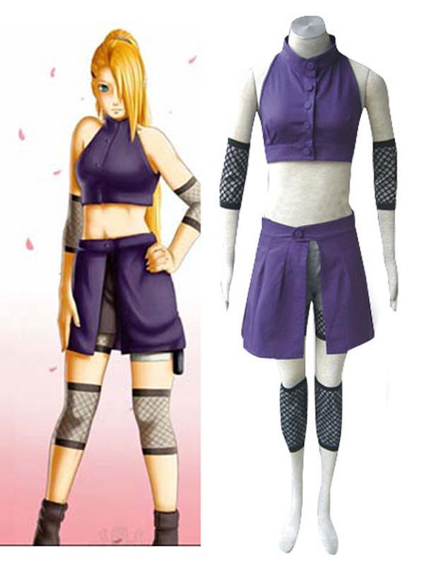 Naruto Yamanaka Ino Cosplay Women Costume Set XL