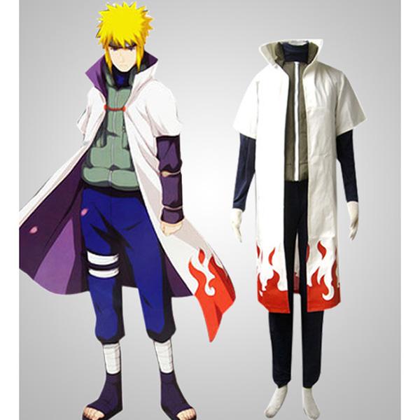 Yondaime Hokage Naruto Cosplay Costumes Halloween Hottest Cosplay M