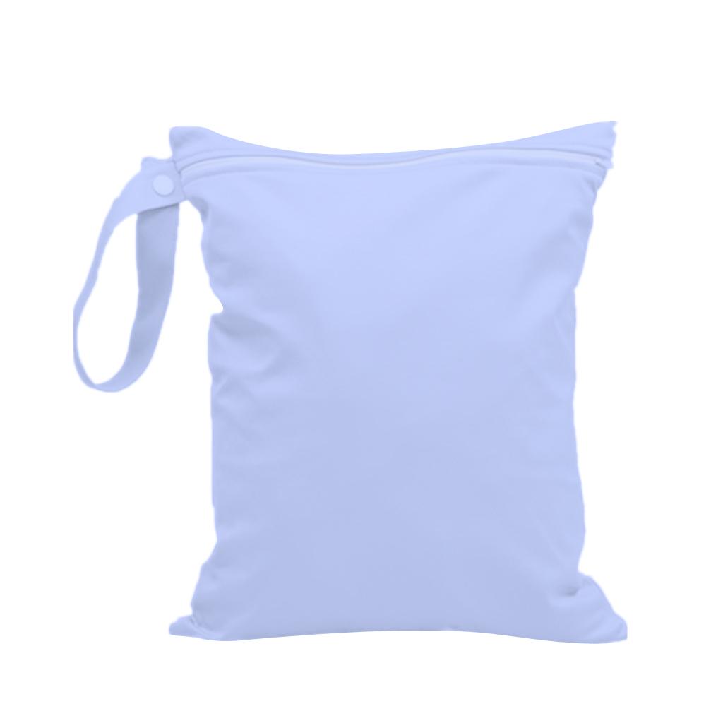 Waterproof Zipper Bag Washable Reusable Baby Cloth Diaper Bag Purple