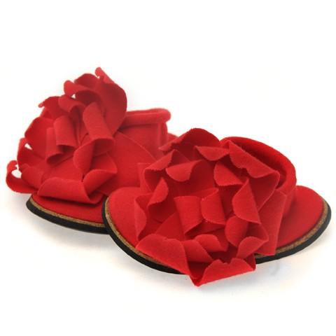 Cotton Cute Baby Infant Prewalker Shoes Red Size M