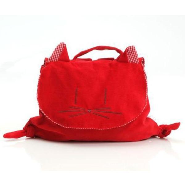 Cute Kitty Kids Backpack Handbag - Red