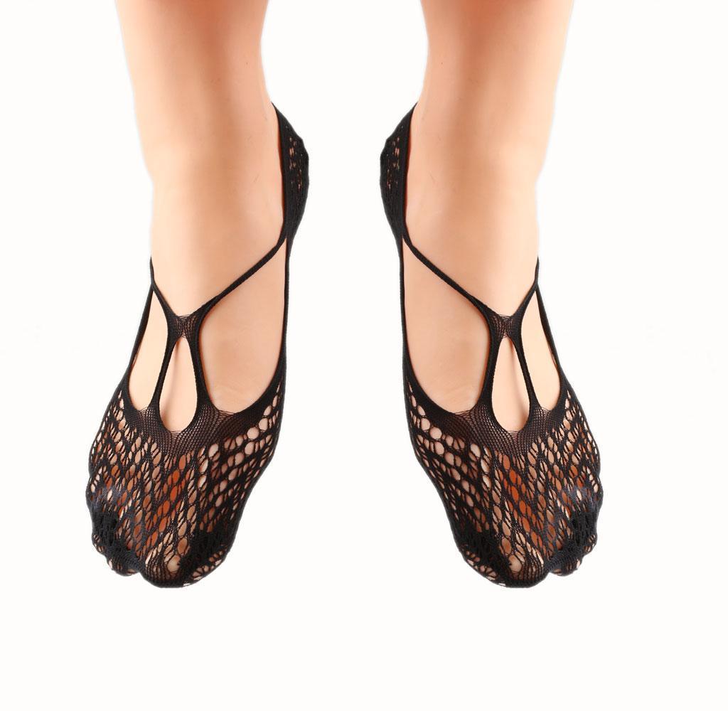 1 Pair Ladies Sexy Mesh Fishnet Elastic Ankle Boat Socks Black