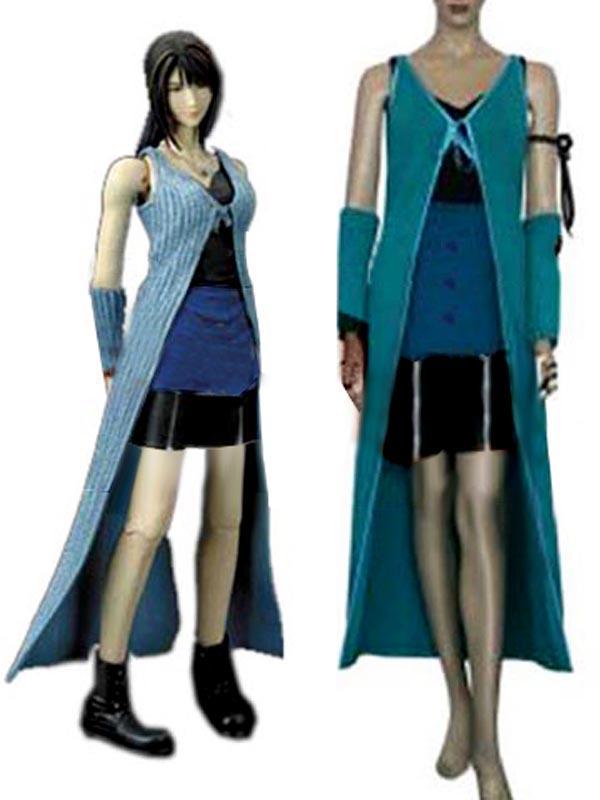 Final Fantasy VIII Rinoa Heartilly Cosplay Costume XS Blue + Black