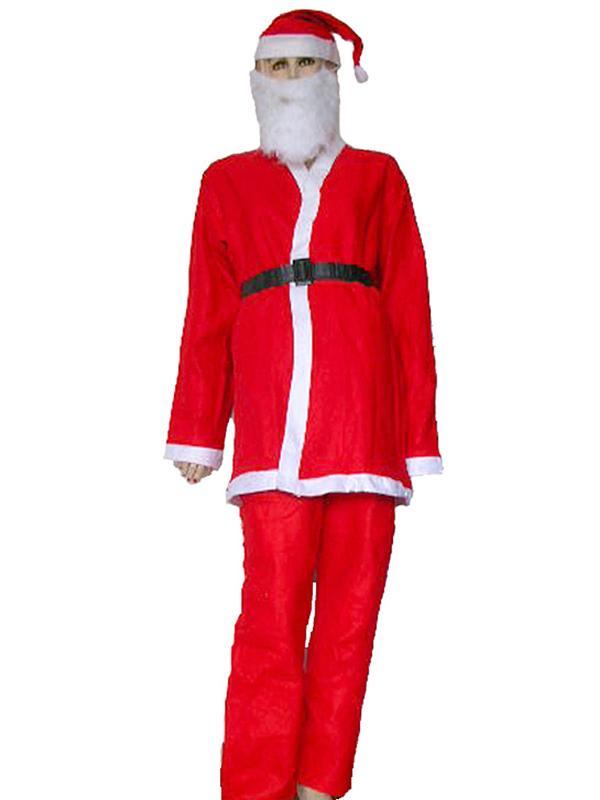 5Pcs Men Adult One-off Christmas Santa Claus Clothes