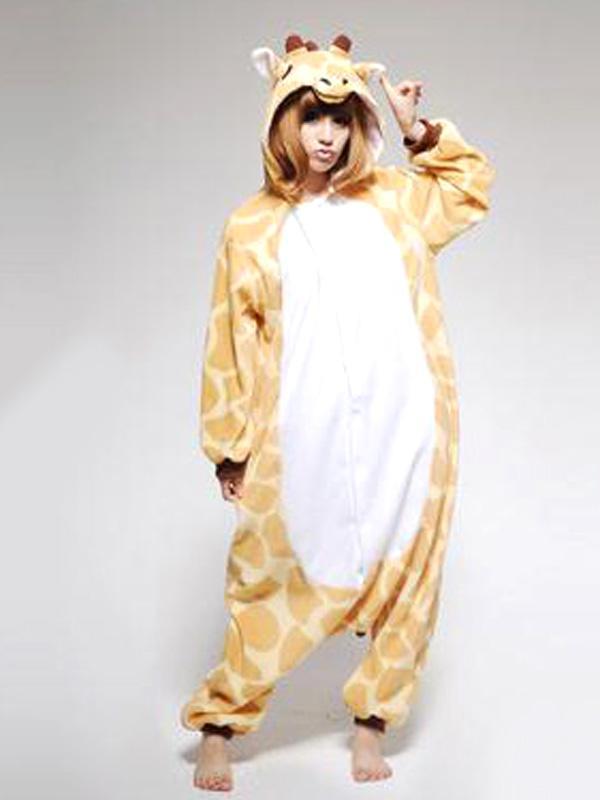 Warm Giraffe Sleepwear Soft Siamesed Pajama Robe Bath Robe M